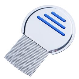 Wholesale Nits Lice - Stainless Steel Terminator Lice Comb Nit Free Kids Hair Rid Headlice Super Density Teeth Remove Nits Comb