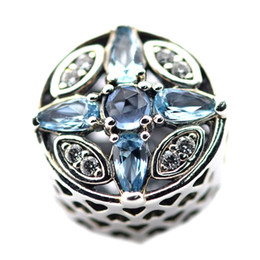 Wholesale Frost Flowers Beads - 2016 Patterns Of Frost Openwork Charm 100% 925 Sterling Silver Bead Fit Pandora Fashion Jewelry DIY Charm Brand