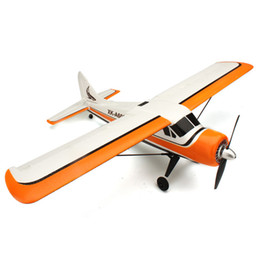 Wholesale Bnf Rc Airplanes - Wholesale-XK DHC-2 DHC2 A600 5CH 3D6G Brushless RC Airplane Compatible Futaba BNF
