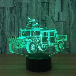 nuova batteria all'ingrosso dell'automobile Sconti Nuovo 3D SUV Car Illusion Night Lamp 7 RGB luci colorate USB alimentato con batteria Bin Touch Button Dropshipping all'ingrosso