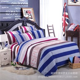 Wholesale Thick Cotton Sheets - Reactive printing does not fade thick sheets of four sets warm cashmere plant cotton cashmere bed sheets quilt cover pillow case bedding set