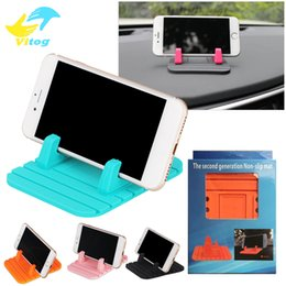 Wholesale Silicone Car Mats - 2017 Hotsale Silicone Car Holder Soft Silicone Desktop Anti Slip Mat Holder Stand Bracket With Package For Mobile Phone