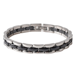 Wholesale Magnetic Healing - 2018 Foreigntyl New Fashion Jewelry Healing Magnetic Titanium Bio Magnet energy bracelet For Men Blood Pressure Accessory