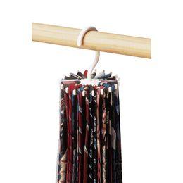 Wholesale Plastic Neck Tie Hanger - Storage Holders Rotating Tie and Belt Hanger Rack Adjustable Tie Hanger Holds 20 Neck Ties Organizer
