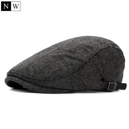 All'ingrosso-2016 solido lana d'epoca berretto da uomo berretto piatto cappelli invernali per gli uomini berretti cappello femminile strillone berretto a visiera donne berretti cheap berets for wholesale da berretti per il commercio all'ingrosso fornitori