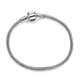 Wholesale Jewelry Making Rings - Authentic Silver Plated & Silver Snake Chain Bracelets DIY Bracelet Jewelry 17CM-21CM Luxury Jewelry Making DIY LZ20