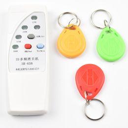 Wholesale reader id card - Handheld 4 Frequency 125khz 250k 375k 500k RFID Copier  Duplicator  Cloner ID EM Reader & Writer &3pcs EM4305 T5577 Rewrite Tag