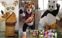 Wholesale White Duck Adult Costume - Winnie the Pooh Donald Duck China Panda Mascot Costume Adult Size Kung Fu Panda Cartoon Character Costumes Fancy Dress Suit