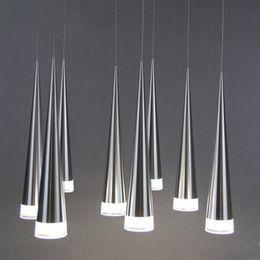 Wholesale Metal Hanging Lamp - Modern led Conical pendant light Aluminum&metal home Industrial lighting hang lamp dining living room bar cafe droplight fixture