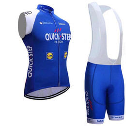 Wholesale Quick Step Bib - 2017 QUICK STEP team cycling vest jersey bib shorts MTB Ropa Ciclismo breathable mens summer pro cycling shirts bicycle tops Maillot