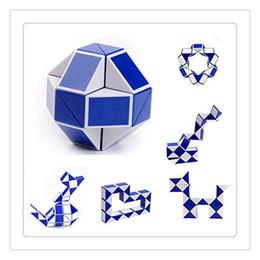 Wholesale Quality Intelligence - Shengshou Magic Cube Puzzle High Quality Twist Jigsaw Puzzle Snake Magic Ruler 3D Snake Toys Kid Education Intelligence Toy Free Shipping