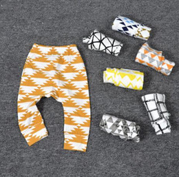 Wholesale Girl Harem Trouser - 16 styles Ins Baby Kids boy girls leggings pants stripped fruit animals print Harem pants Trousers