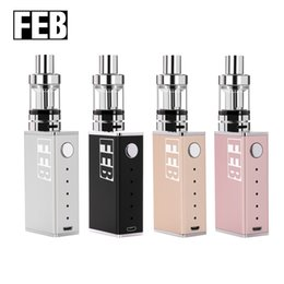 Wholesale Electronic Cigarette Boxed Starter Kits - FEB S1 starter kits e cigarette box mod vape mod atomizer 2.0 ml vaporizer 2000mah vaper electronic cigarette starter kits VS smok