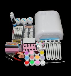 Wholesale Gel Nails Kits For Sale - manicure tools EM-92 Hot Sale nails gel Professional 36w Curing UV Dryer Lamp 12 Colours Nail Art Manicure Tools Kit For