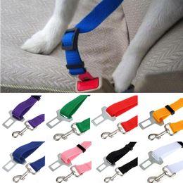 Canada 6 couleurs réglable voiture véhicule ceinture de sécurité chat chiot ceinture de sécurité pour animaux de compagnie chien harnais plomb laisses gros supplier puppy car harness Offre