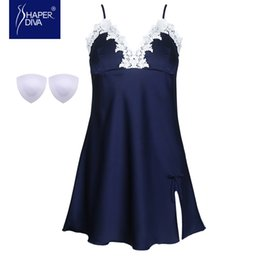 Wholesale Mini Sexy Baby Doll - Shaper diva Women Sexy Babydoll Dress Chemises Lingeries Deep V Lace Trim Mini Nightdress Sleepwear Lingerie Baby dolls