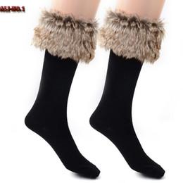 Wholesale Furry Socks - Wholesale- 11.11.2016 Calcetines Mujer Casual Pure Faux Fur Fleece Liners Boot Socks Women Fluffy Furry Cuff Warm Chaussette Femme Meia Z20