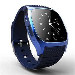 Wholesale vehicle promotion - Smart Watch Rushed Promotion Sport Sms Rectangle Metal Lcd 4.0 Ring Vibration Ios Android Bluetooth Unisex Wristband Screeen for M26