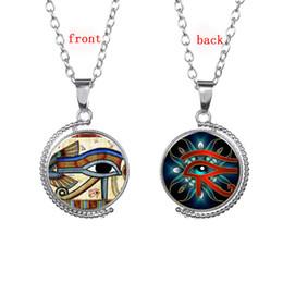 Wholesale Egyptian Amulets - The Eye Of Horus Egyptian Sun God Symbol Pendant Necklace Egypt Eye Amulet Hieroglyphics Jewelry For Women And Men