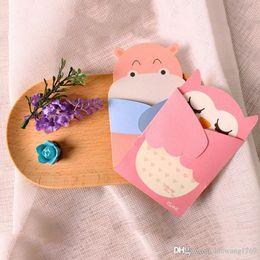 1 pcs Étreinte de l'amour Animal de bande dessinée petite carte avec l'enveloppe kawaii message cartes de voeux d'anniversaire vacances Universal enfants cadeau ? partir de fabricateur