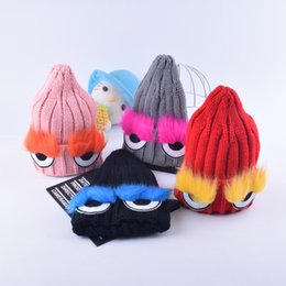 Wholesale Christmas Caps For Kids - 2017 Fashion Children Winter Hats 100% new Fur pompom Beanies Cap Natural Hat For Kids Children Skullies