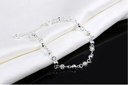 Wholesale Quality Jewellery - 925 String Silver Bracelets Top Quality Jewelry Women S925 Silver Chain Bracelet Bangle Link Chain Romantic brace laces Jewellery Accessory