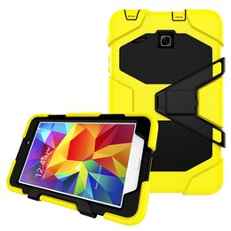 Wholesale Cover Case Silicone S2 - Shockproof Protective Case For Samsung Galaxy Tab A 7.0 T280 S2 T710 8.0 Tab E T377 T377V Heavy Duty with Stand Silicone Armor Back Cover
