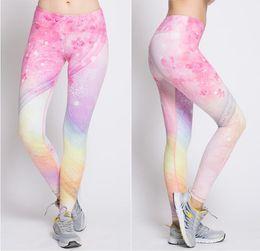 Wholesale Large Tights Pants - New Women's Movement Tight-Fitting Yoga Pant High Elastic Soft Printing Sport Pant Yoga Pants Large JAP3786
