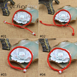 Wholesale Braided Rope Bracelet Chinese Cord - Wholesale-Simple Chinese Hand Braided Red Cord Style Lucky String Rope Bracelet