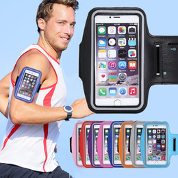 Wholesale Slim Arm Bands - Universal Sports Armband Ultra Slim Arm Band Phone Case Pouch Cover with Key Holder for iPhone 8 7 Plus Samsung Galaxy S8