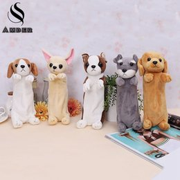 Wholesale Pencil Case Dog - Cute Cartoon Puppy Pencil Case Dog Pencilcase Kawai Pencil Bag Pen Bag School Supply Supplies Escolar Papelaria 2017 New BD832