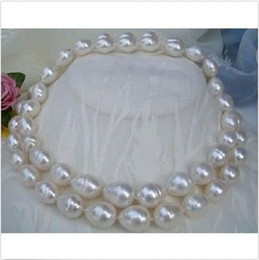 "Wholesale South Sea Huge Pearl - HUGE AAA 35""11-14MM SOUTH SEA WHITE PEARL NECKLACE 14k Gold Clasp"