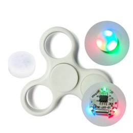 Wholesale White Finger Lights - Spinner LED Light with Button For Fidget Hand Spinner Torqbar Finger Toy EDC Focus Gyro finger spinnner accessories