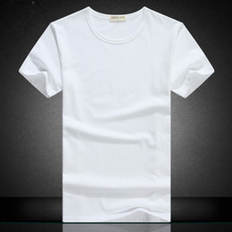 Wholesale Cotton Paints - Men's short-sleeved T-shirt pure cotton summer collar with white and white hand-painted han edition