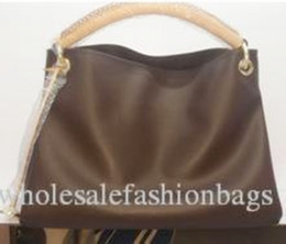 Wholesale Dark Blue Brown Leather Bag - Top quality women European and american brand new lady real Leather artsy handbag tote bag purse v099