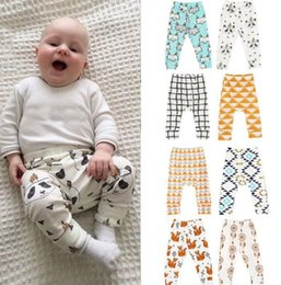 Wholesale Toddlers Fashion Leggings - Baby Clothes Ins PP Pants Toddler Ins Harem Pants Kids Cotton Fashion Pants Boys Lemon Leggings Girl Fox Tights kids Trousers KKA2138