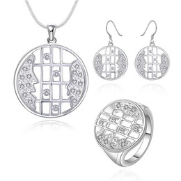 Wholesale Looking For Gift Wholesaler - best gift Looking silver plated jewelry sets for women DS663,popular 925 silver necklace bracelet earring jewelry set