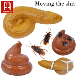 Wholesale Toys For Pranks - Tricky toys imitate real shit rubber novelty toy simulated stool cockroach joke toy funny style toys for prank