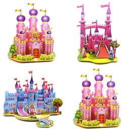 Wholesale 3d House Toy - Pretty 3D House Bridge DIY Puzzles Lepin Box Educational Toys For Kids Puzzle Teaching Aids Set Materials