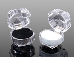 Deutschland 20PCS / LOT Acryl Schmuck Paket Geschenk, Schmuck Display Box Ring Box Ohrring Box Freies Porto Versorgung
