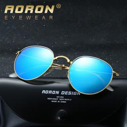 Wholesale Sports Sunglasses Folding - 2017 new design Aoron brand New polarized sunglasses fashion dazzle colour folding polarizer metal glasses manufacturers selling hot style