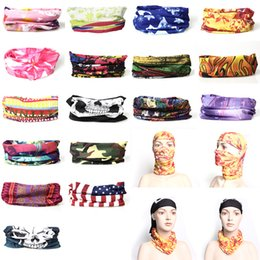 Wholesale Knit Mask - Bandanas Multifunctional Shawl Sunscreen Hair band Riding mask Cap for Cycling Outdoor Cycling Scarf Hip-hop rap Scarves DHL free