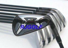 Wholesale dynamic gold shafts set - Top Quality Golf Irons M2 Irons Set #4-Sw Mens Right Handed with dynamic gold Steel or Graphite Shafts 8pcs set come with headcovers