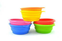 Wholesale Cup Pop - Eco-Friendly Dogs Cats Pets Travel Feeding Food Pop-UP Collapsible Plastic Silicone Folding Portable Bowls Feeder wa3580