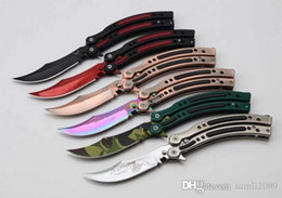 Wholesale Magic Blade Knives - AKC kinfe butterfly CF68 Cross Fire original magic butterfly knives hunting knife karambit pratice tools EDC tools Free shipping