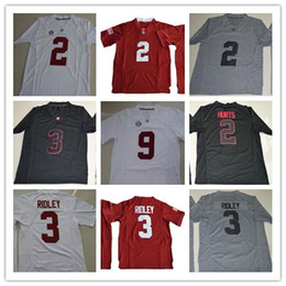 Wholesale Youth Football Jersey Black - Cheap Youth Alabama Crimson Tide College Football 2 Jalen Hurts 3 Ridley 9 Bo Scarbrough White Red Black Limited Stitched Kids Jerseys