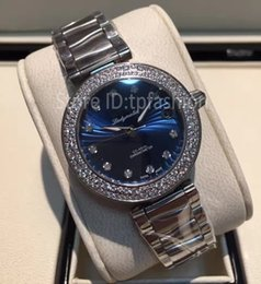 Wholesale Wind Butterfly - Elegant Ladies Top Luxury Automatic Self-winding Watch Women Silver Rhinestone Dial Full Stainless Steel Wristwatch Designer Clock A101