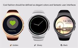 Wholesale Gear Watch Phone - [Genuine] KW18 Bluetooth smart watch full screen Support SIM TF Card Smartwatch Phone Heart Rate for apple gear s2 huawei
