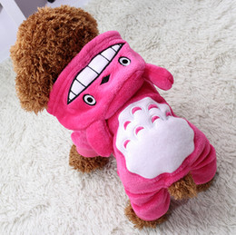 Wholesale Wholesale Apperal - Soft Warm Dog Clothes Coat Pet Costume Fleece Clothing For Dogs Puppy Cartoon Winter Hooded Jacket Autumn Apperal XS-XXL 29