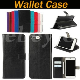 Wholesale Wallet Cover For Iphone 4s - Wallet Case For Iphone 7+ 7 plus 6 6S 6plus 5 5S 5C 4 4S PU Leather Cases Kickstand Cover with Card Slot
